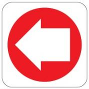 Fire Safety Sign - Fire Arrow Left 016